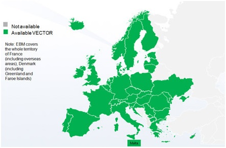 EuroBoundaryMap (EBM). Print Review Map Of Europe